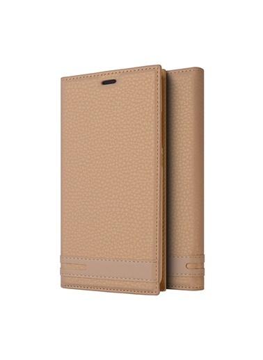 Microsonic Samsung Galaxy A9 2018 Kılıf Gizli Mıknatıslı Delux  Altın
